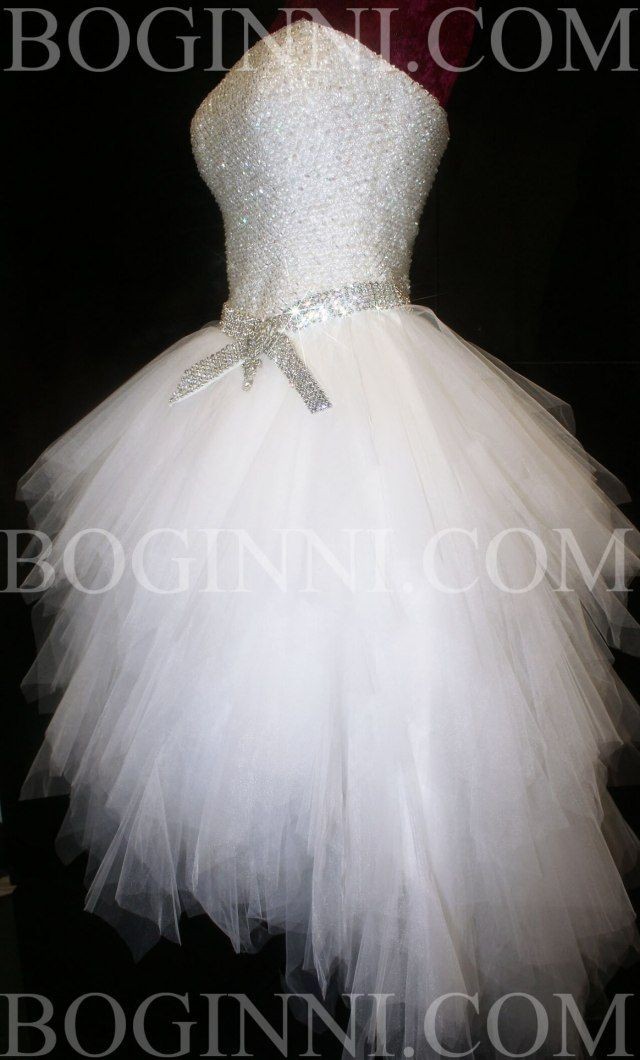 ab diamond crystal beaded bodice mullet wedding dress pertaining to white wedding dresses with diamonds