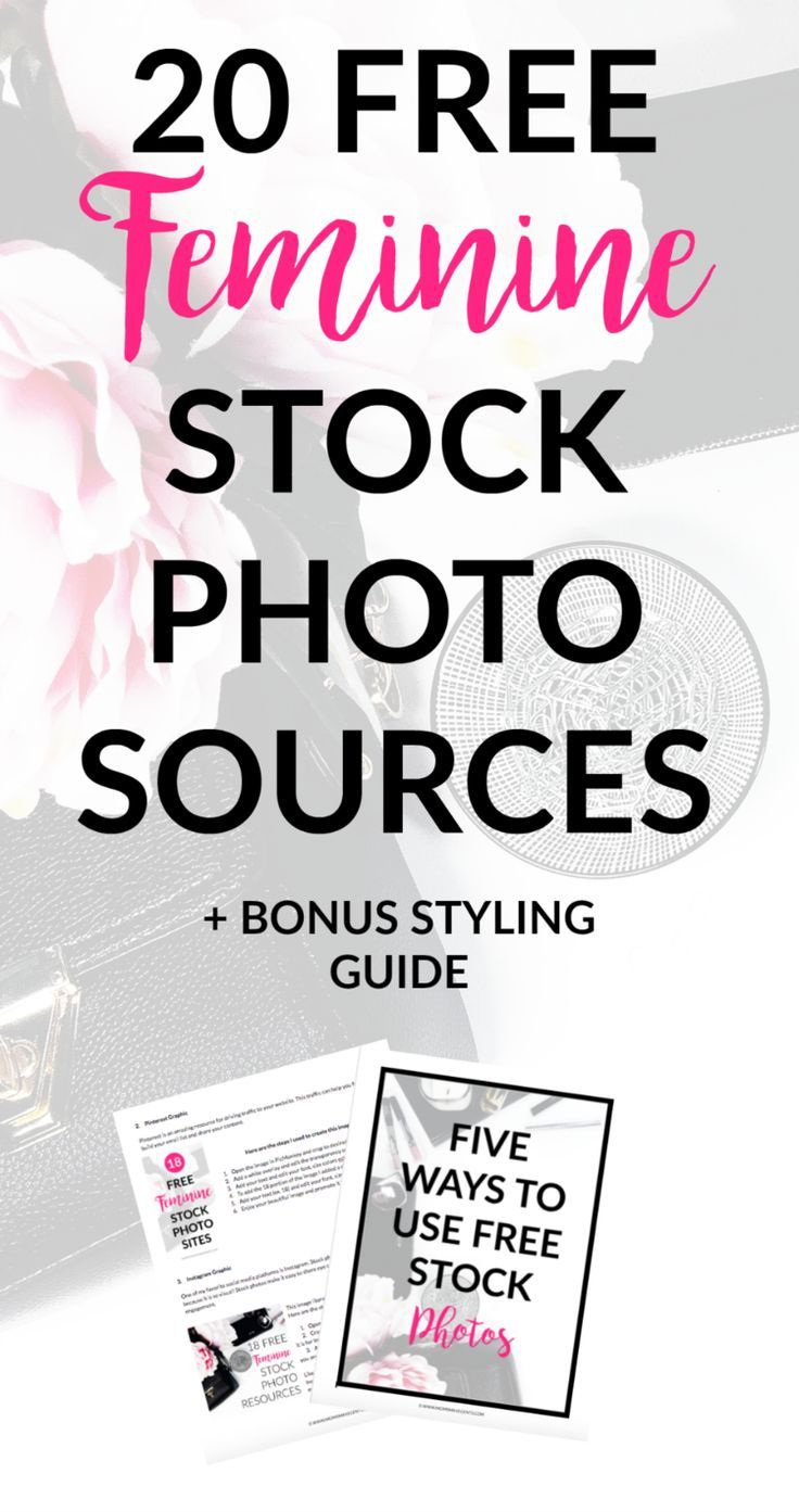 20 Free Feminine Stock and Styled Photo Sites + a bonus step-by-step guide to use the photos for your business. These free photos are GORGEOUS! They can be used for pinterest images, instagram images, business cards, for email opt-ins and so much more! This is my favorite stock photo round up.