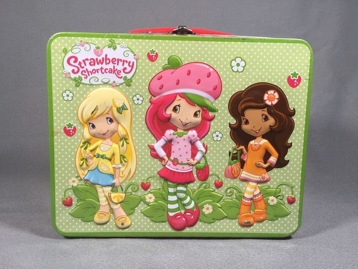 Strawberry Shortcake Metal Tin Lunch Box 2012 American Greetings #Americangreetings