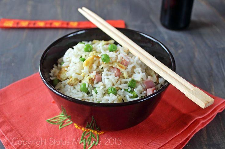 Riso alla cantonese ricetta primo cinese semplice veloce in padella wok cucinare veloce Statusmamma Gialloblogs © Copyright Status mamma 2015