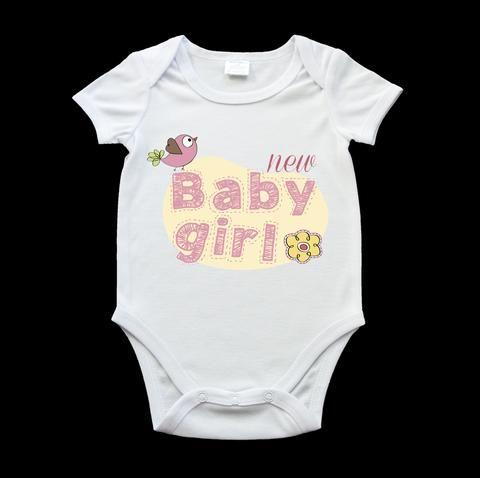 New baby girl cute baby onesie, birth gift, new baby gift