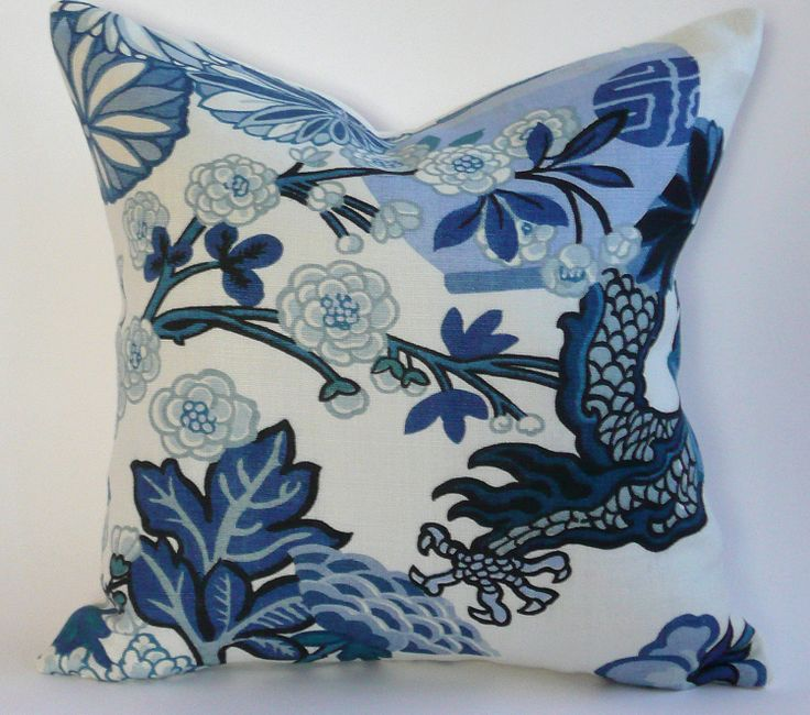 Schumacher Chiang Mai Dragon Pillow Cover In By