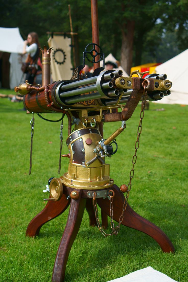 Steampunk gatling gun by Frederik82 / 亗 Dr. Emporio Efikz 亗   -wonder how long that took-