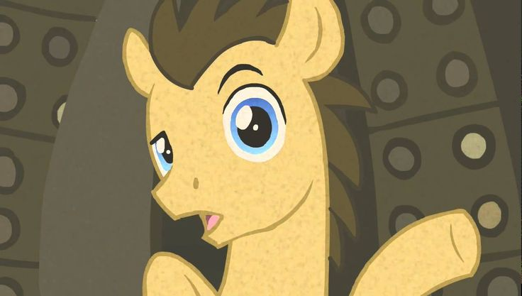 Doctor Whooves has a Message- Don't let me eat pears. I HATE pears.