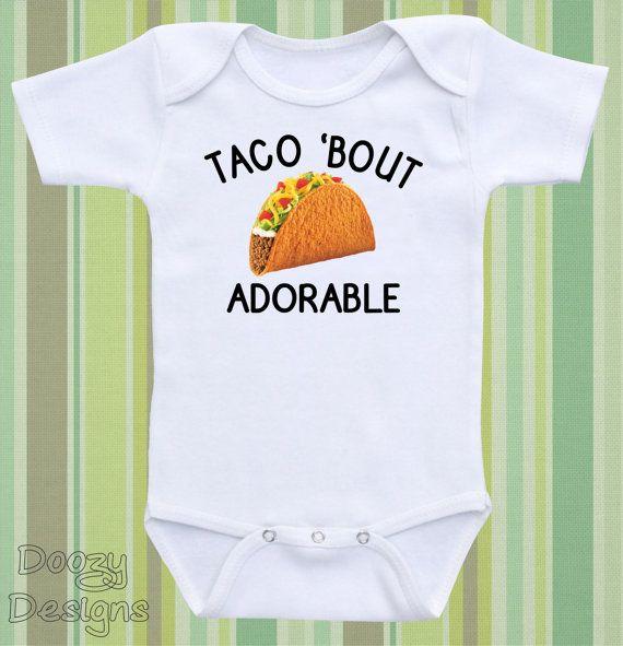 Funny Baby Onesies ® Taco Onesie ® Cute Gender by DoozyDesigns