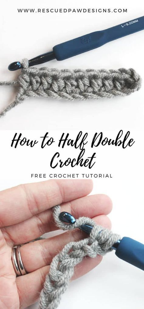 How to Half Double Crochet - Learn this simple stitch today with this free tutorial from Rescued Paw Designs
