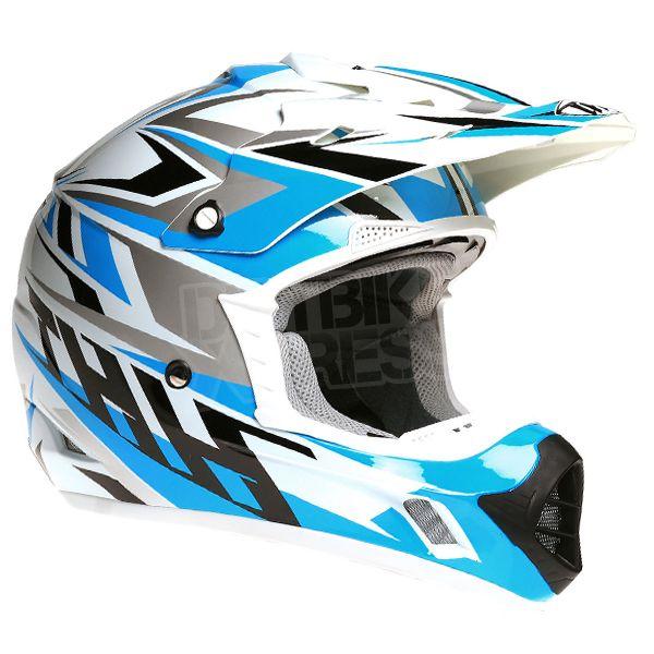 2015 THH TX-12 Helmet - Strike White Blue