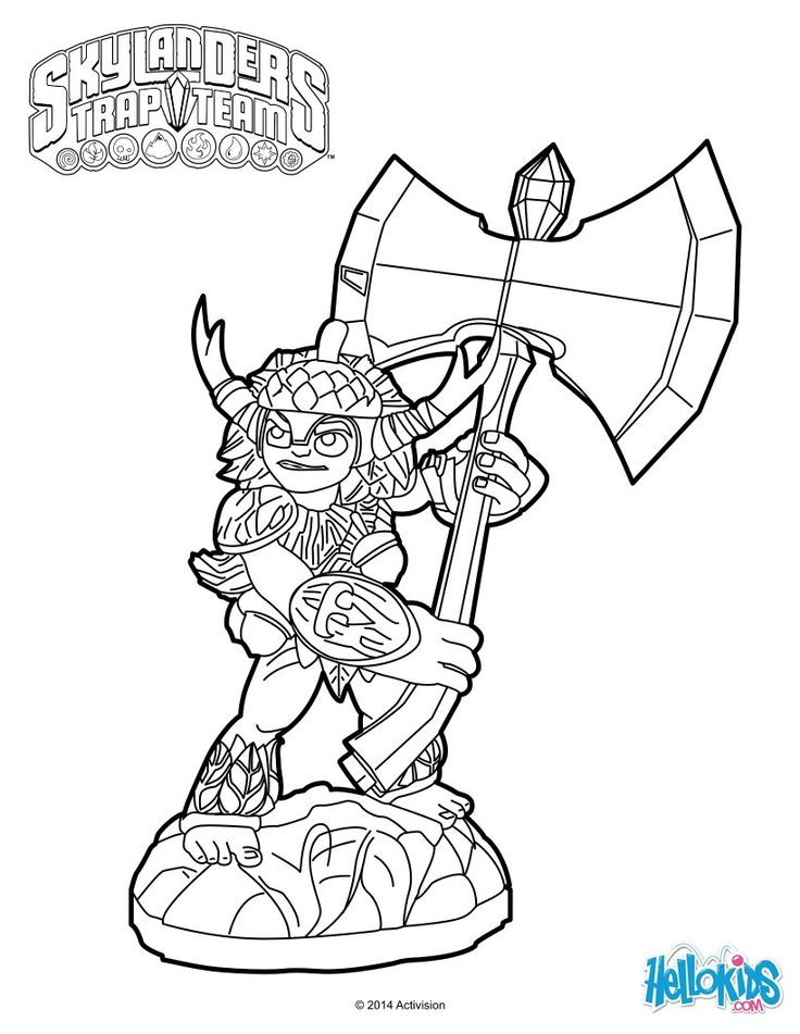 bushwhack was born to a race of tree elves who protected the rich arcadian timberland and was supposed to be a ranger however bushwhack was sent to work - Skylander Coloring Pages Tree Rex