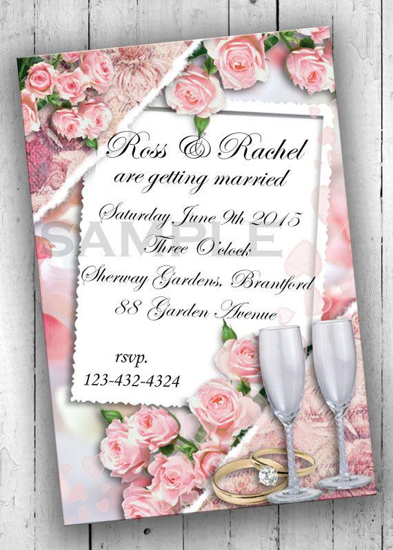 Wedding Invitations Printable Invites by PartyPrintableInvite