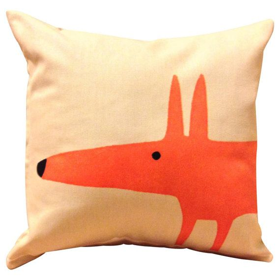 Scion Mr Fox Cream Cushion Cover 12'' от PrettyCushionsUK на Etsy