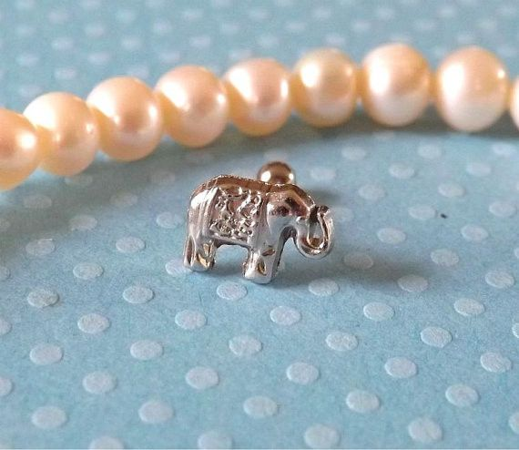 Tiny Elephant Cartilage 16ga Tragus Helix Earring Body Jewelry