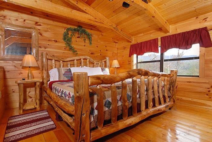 Log Cabin Bedroom Furniture Cabin Stuff Pinterest