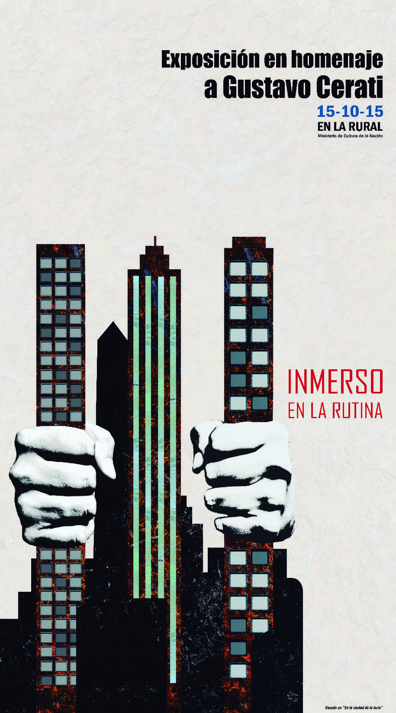 Afiche en homenaje a Gustavo Cerati, DG2 cátedra Mazzeo, 2015