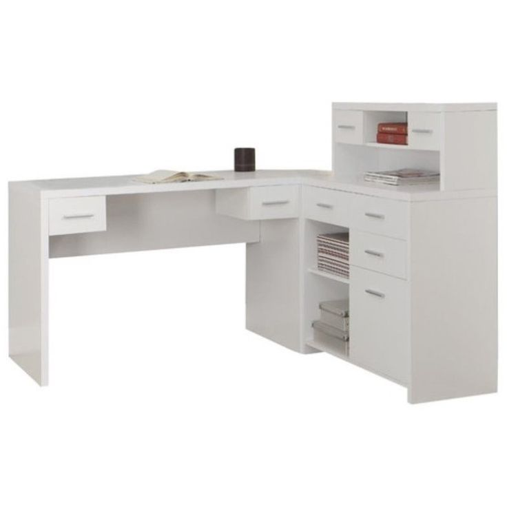 25 best ideas about Office Desk With Hutch on Pinterest  White