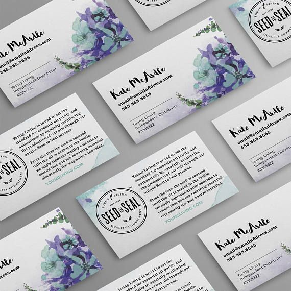 Young Living Business Card Template: 1000+ Ideas About Young Living Business On Pinterest