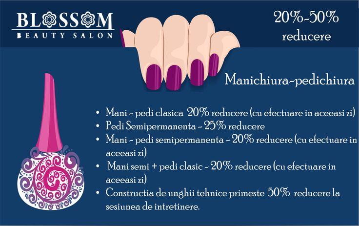 Promotii complete aici: http://blossom-salon.ro/promotii/ și despre nail beauty aici: http://blossom-salon.ro/infrumusetare/manichiura-pedichiura/