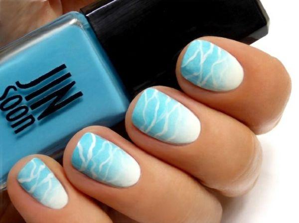 """Nail Art Designs zum Thema """"Meer"""" - inspirierende Nageldesign Bilder - http://freshideen.com/art-deko/contemporary/nail-art.html"""