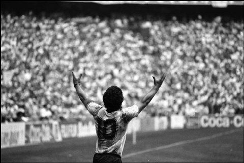 Maradona celebrates
