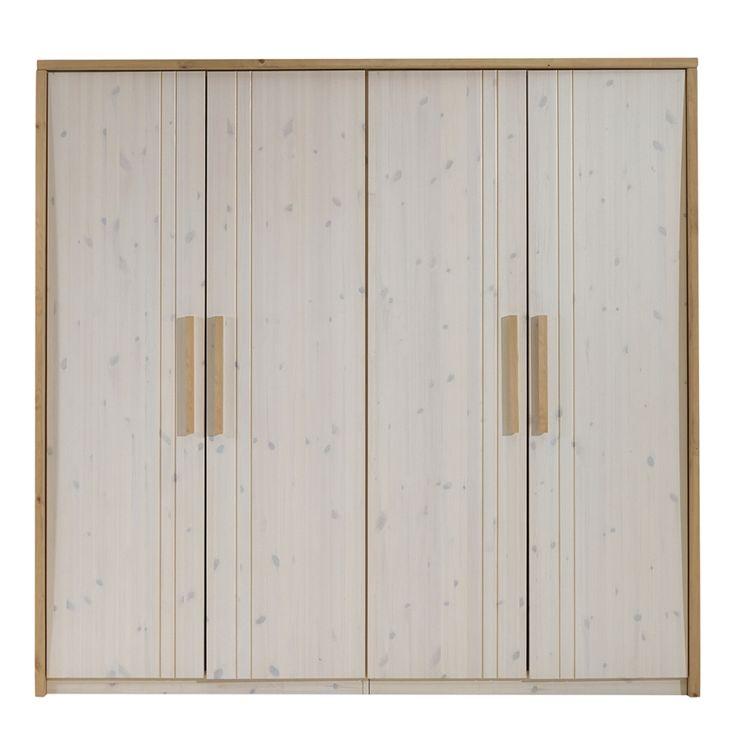 Simple Kleiderschrank Nea t rig Kiefer Massivholz Breite cm