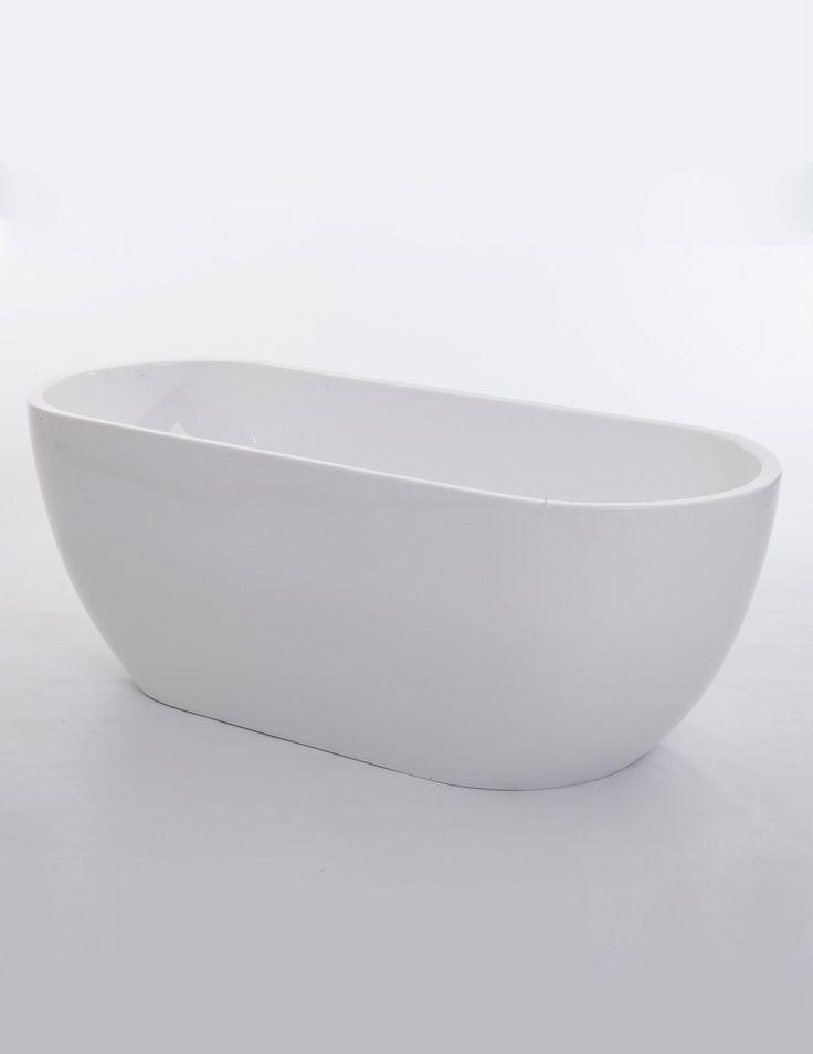 #bathroom Royce Morgan Black Onyx Double Ended Freestanding Bath 1700 x 670mm http://www.qssupplies.co.uk/bathroom-furniture-shower-taps/77666.htm