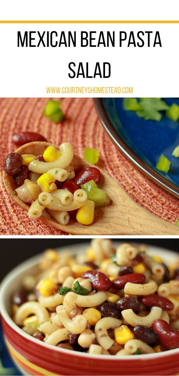 This Mexican Bean Pasta Salad is the perfect addition to any potluck.  If you wa…