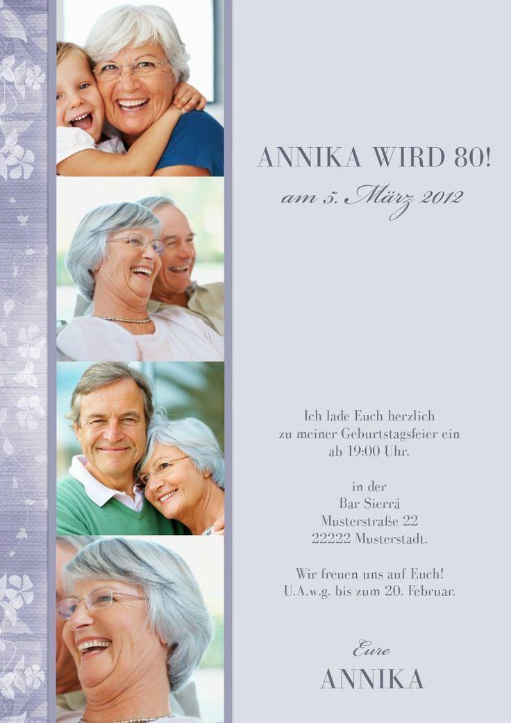 Einladungskarten Geburtstag : Einladungskarten Zum 80 Geburtstag   Einladung  Zum Geburtstag   Einladung Zum Geburtstag