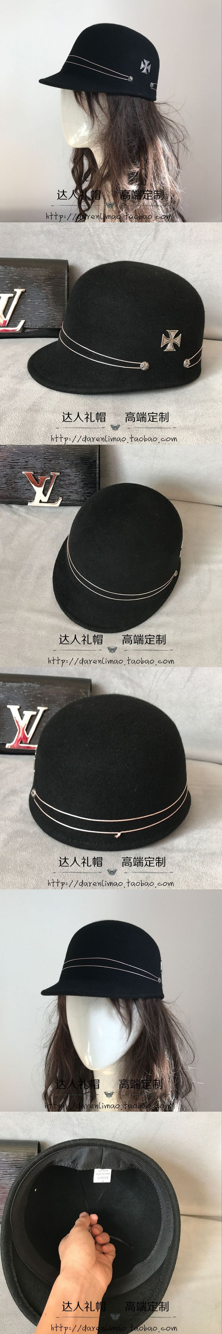 Crow heart shuangkou knights of baseball caps hats for men and women personality homburg leisure cool short eaves equestrian