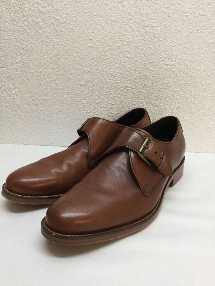 Cole Haan 'Air Madison' British Tan Leather Monk Strap Mens Size 7.5 # ColeHaan