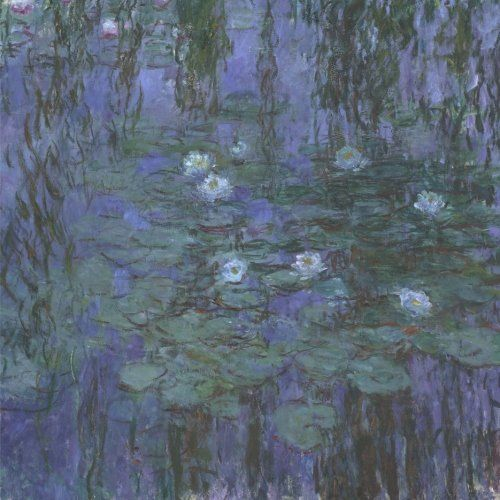 Blue Water Lilies, Claude Monet. Blank journal: 150 blank pages, 8,5 x 8,5 inch (21.59 x 21.59 centimeters) Laminated.  (Paper notebook, composition book) by Studio Beeker http://www.amazon.com/dp/1522916237/ref=cm_sw_r_pi_dp_RfCFwb09G2EV5