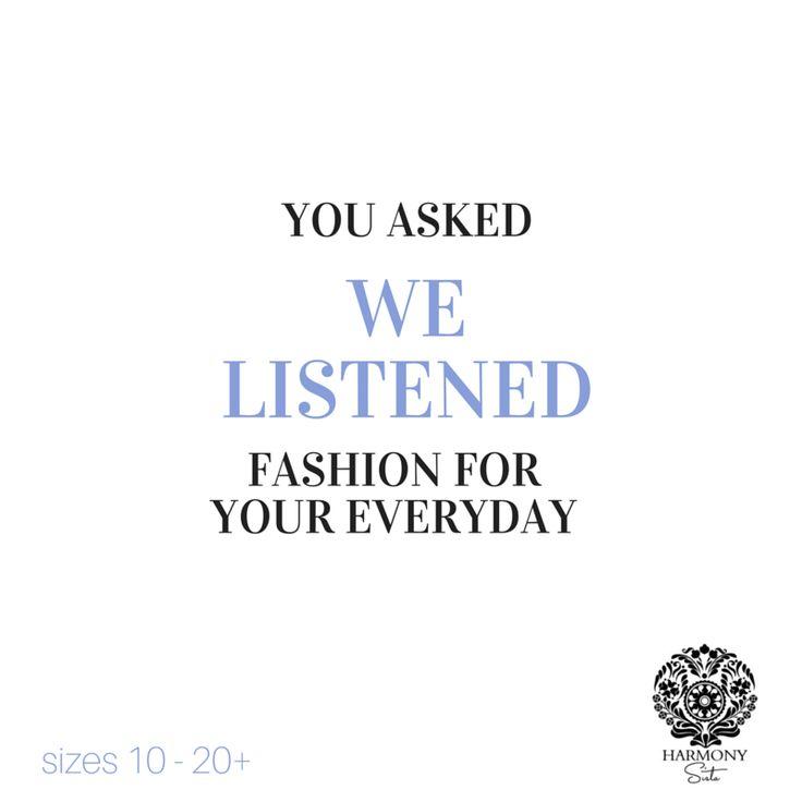 We Listen ........  harmonysista.com.au