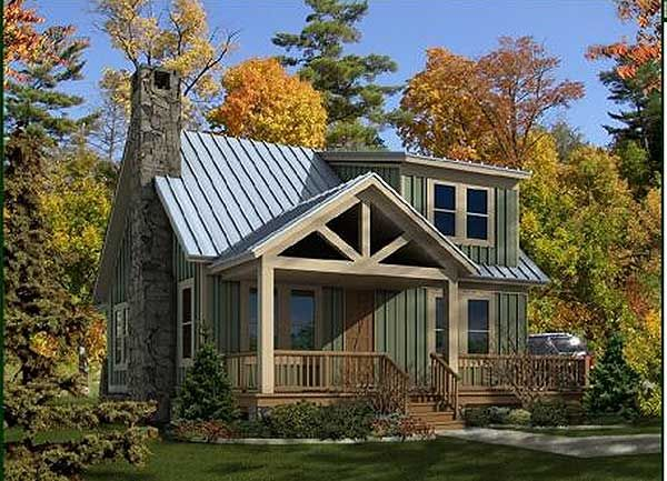 Plan 58550SV: Adorable Cottage. Beach House PlansSmall ...
