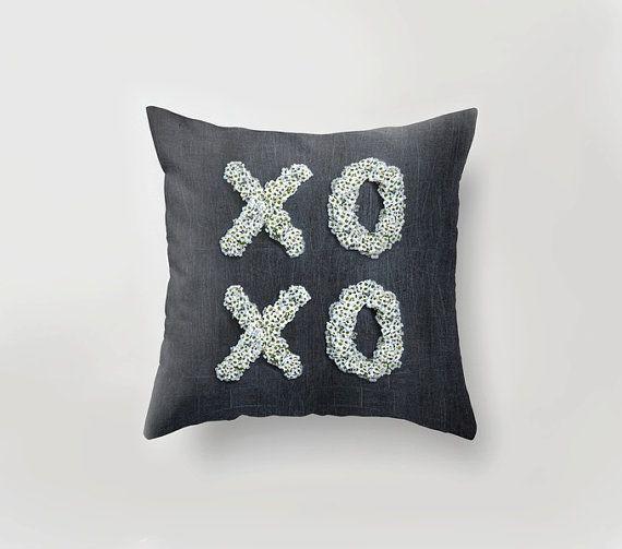 #xoxo #love #homedecor #pillow  XOXO PILLOW  Unique home decor LOVE art pillow Grey by PilipArt
