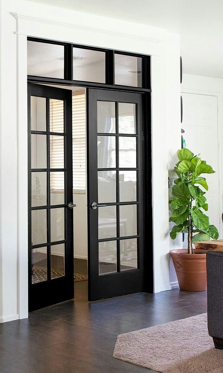 Pin By Kelly Burks On Hugs Installing French Doors French Doors Interior Black Interior Doors