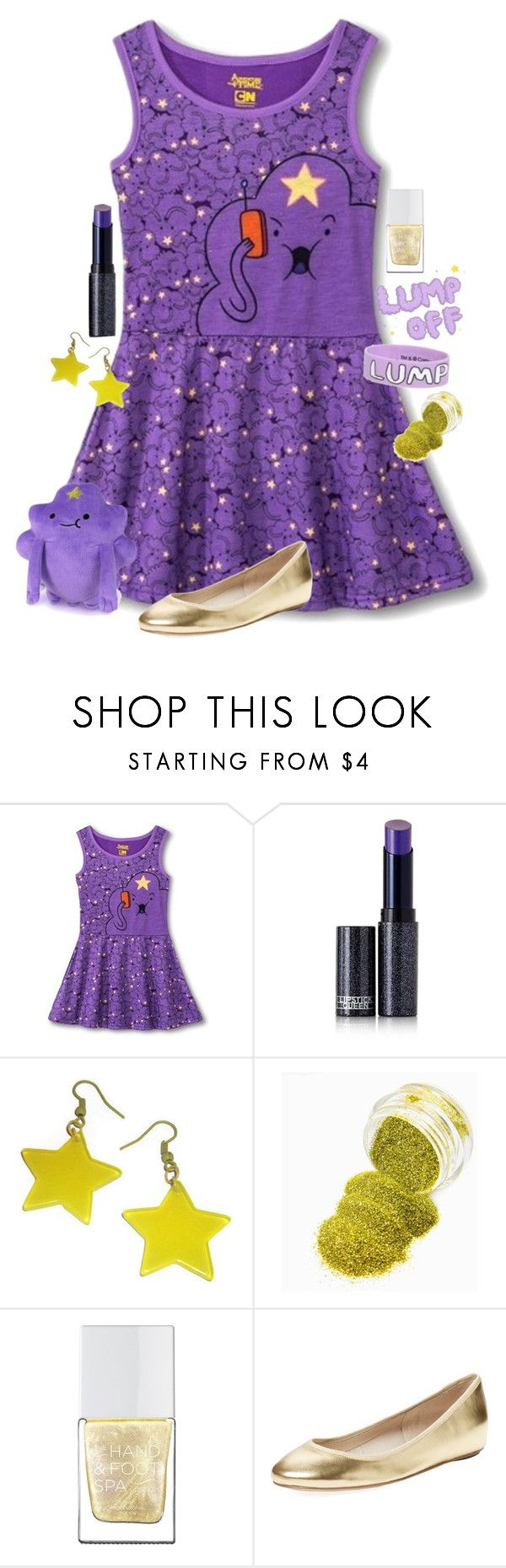 """""""Lumpy Space Princess"""" by adventuretimekitty ❤ liked on Polyvore featuring Lipstick Queen, The Hand & Foot Spa, Elorie, adventuretime and lumpyspaceprincess"""