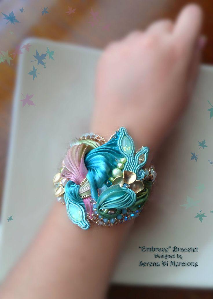Designed by Serena Di Mercione --- Shibori silk, swarovski, pearl
