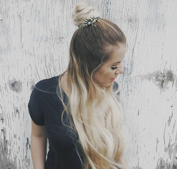 Vintage half-up half-down hairstyle by Sarah Nourse