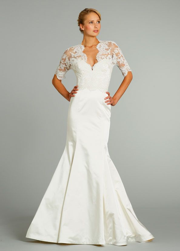 Moire Trumpet Wedding Dress