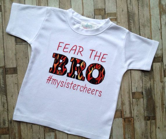 Fear the Bro brother cheer shirt by LillysBowtique on Etsy, $22.00