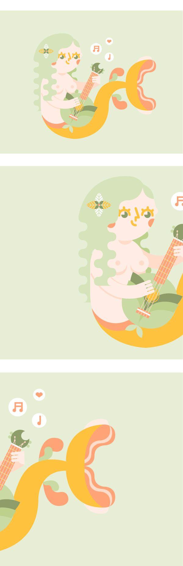 Fegato Magazine | Ukulele Mermaid on Behance