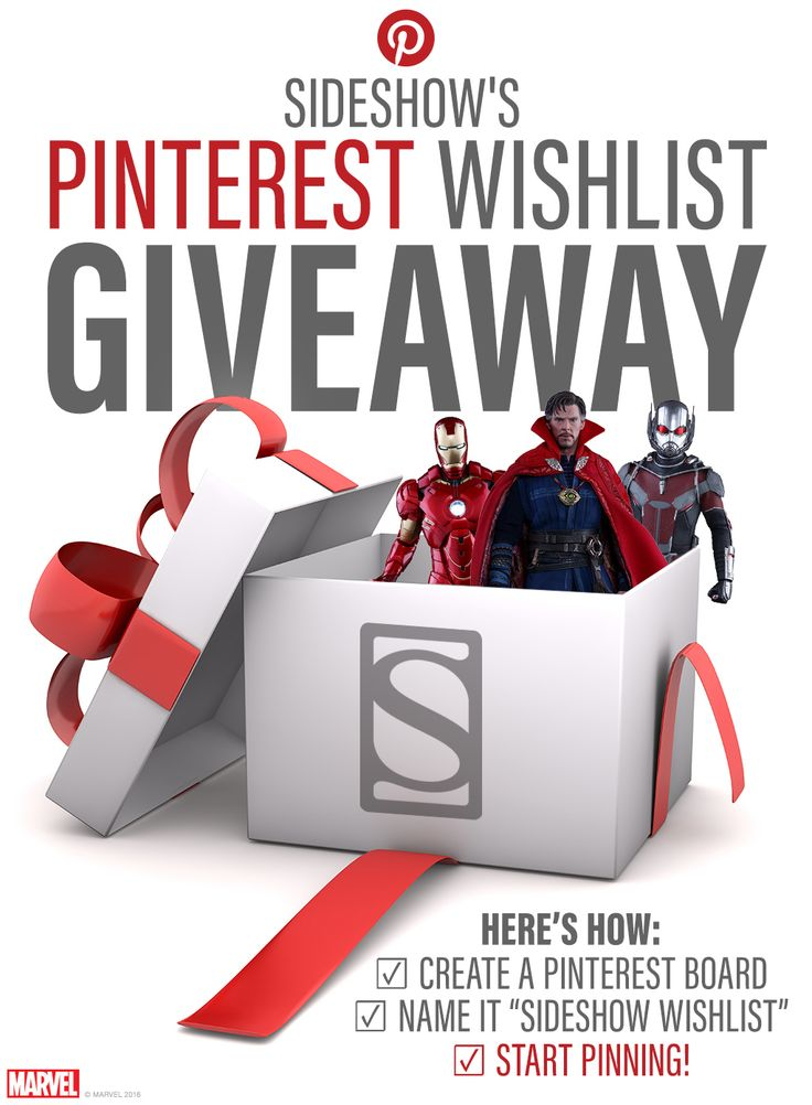 Pinterest Wishlist Giveaway! I really love how Sideshow does these things, even though I never win, it's a chance to look at all my favorite figures! Though, a win would just make my year.