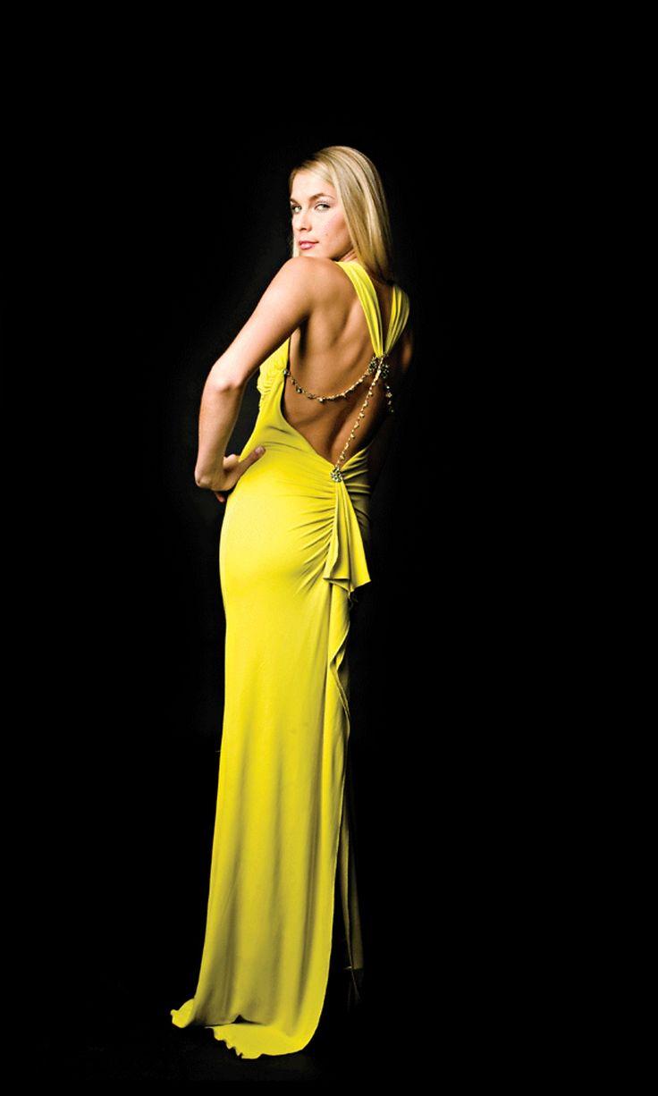 Black and yellow wedding dresses halter neck yellow for Yellow wedding guest dress