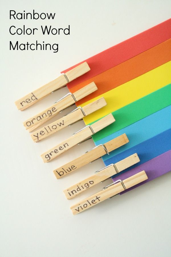 Rainbow Color Word Matching Activity for Preschool and Kindergarten