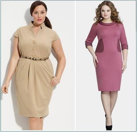 Нарядное платье для крупной женщины