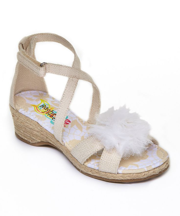 Look at this Rachel Shoes Beige Charlotte Sandal on #zulily today!