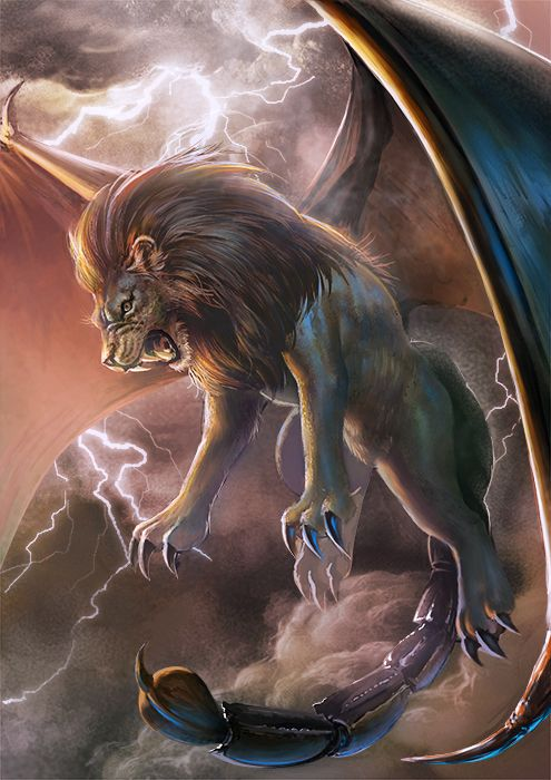 Manticore by TaKe-bamboo.deviantart.com on @DeviantArt