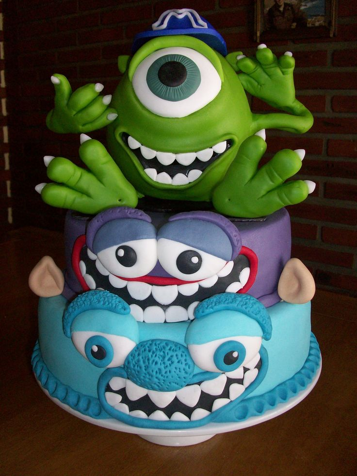 torta monster university con un mike wazowski gigante en porcelana fr u00eda