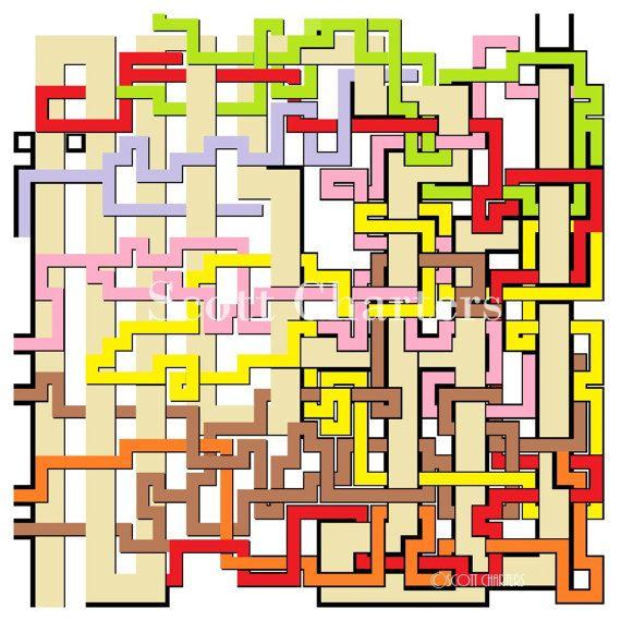 Downloadable Maze Art Print by ScottLCharters on Etsy