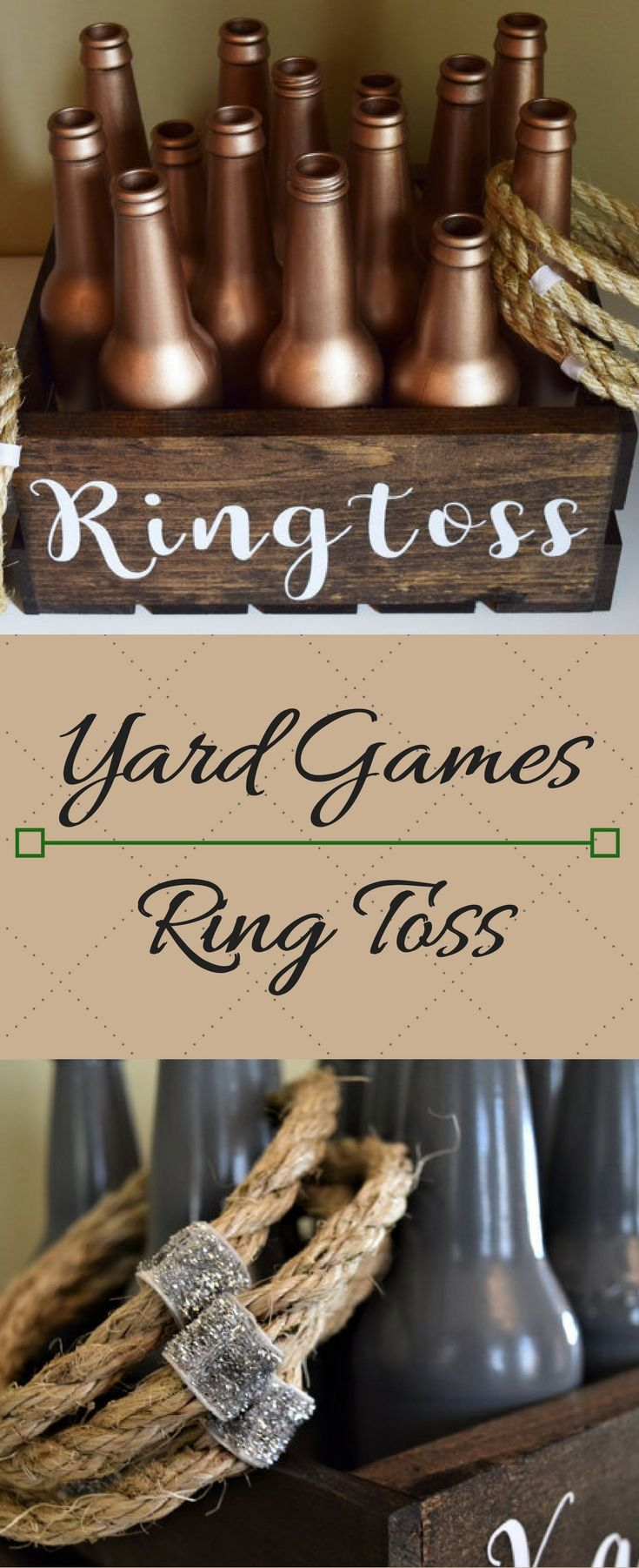 Perfect for an outdoor wedding, graduation party, barbeque, camping trip, or any day that ends in Y. #Yardgames #ringToss #Backyard #graduationparty #weddings #bbq #camping #Ad