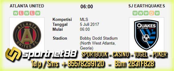 Prediksi Skor Bola Atlanta United vs SJ Earthquakes 5 Jul 2017 MLS Bobby Dodd Stadium (North West Atlanta, Georia) pada hari Rabu jam 06:00 live di TV One live di beIn Sport 1