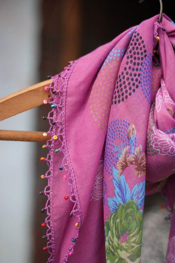 Handmade Lacework scarf Turkish Scarf With by festethefool